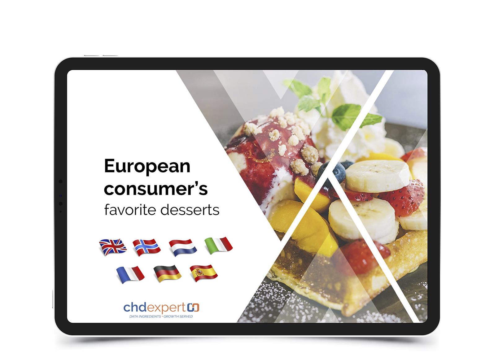 European consumer's favorite desserts • 2018