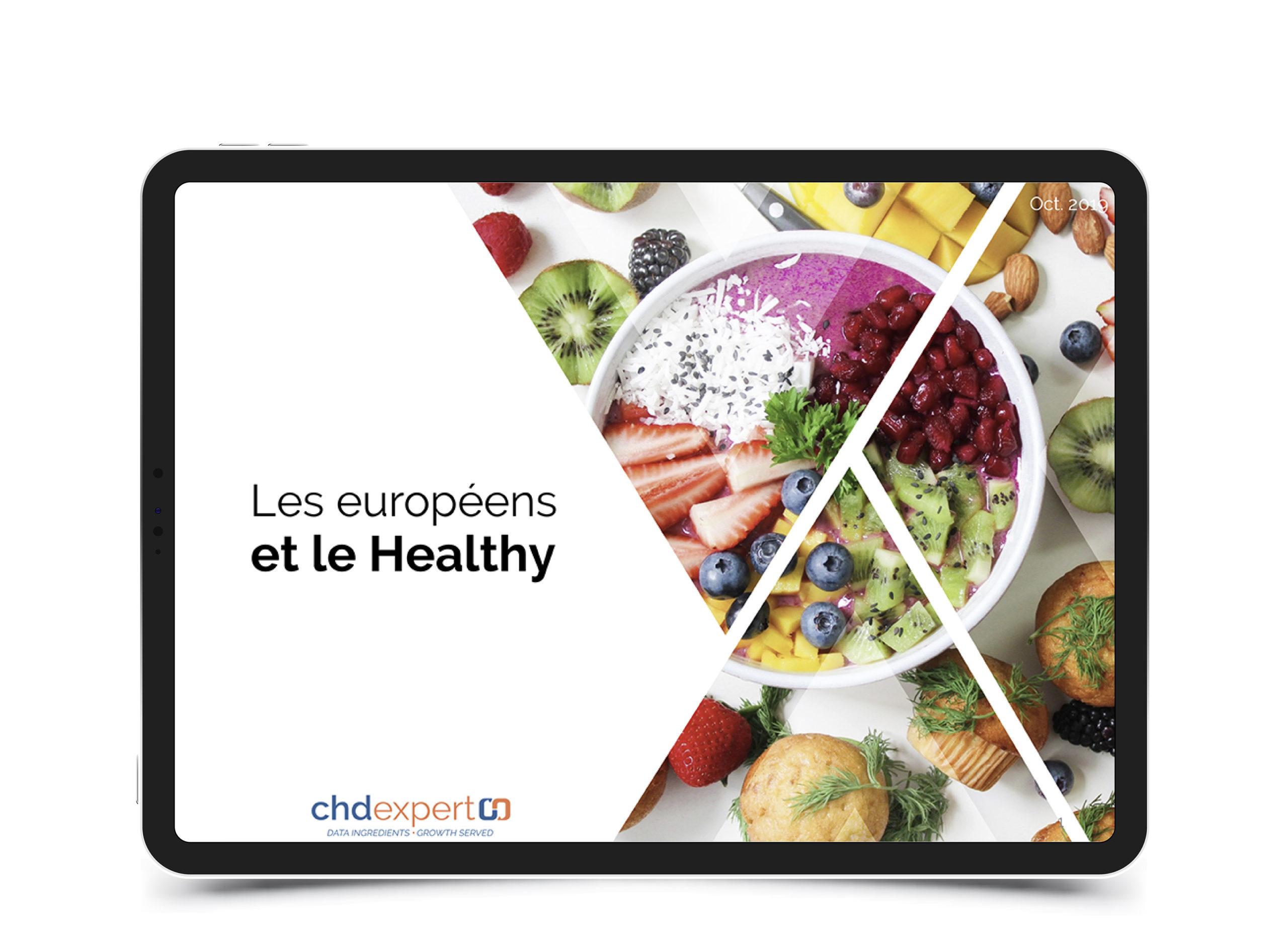 Les européens et le healthy • 2019