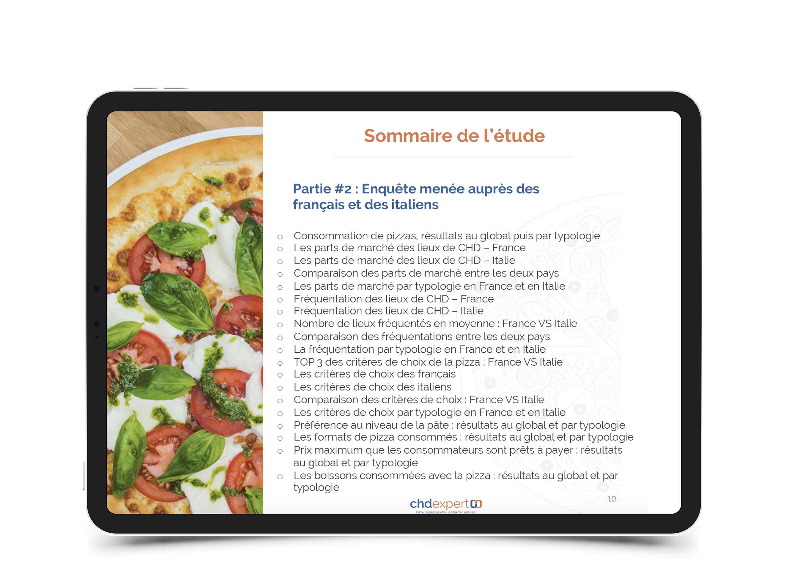 La pizza en France et en Italie • 2019
